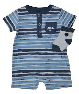 - Lucky Brand Infant Girls Blue Shortall W/Socks Size 0/3M 3/6M 6/9M