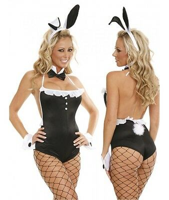Costume Coniglietta Sexy donna Travestimento erotico Bunny HOT + COLLANT