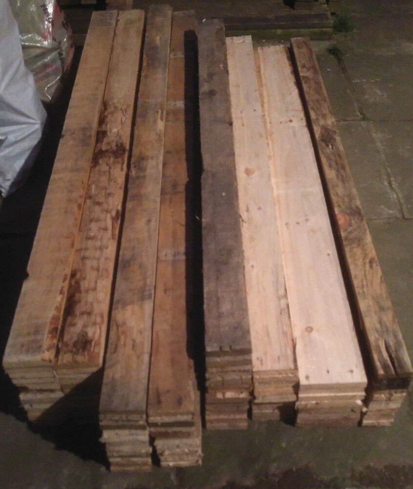 industrial pallet boards from 5ft 4in upto 6ft 6in approx 3/4in thick upto 6in wide all denailed