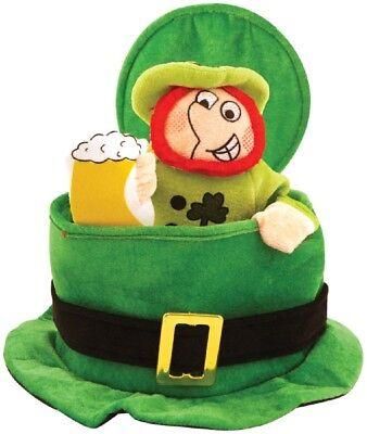 Herren Damen Pop-Up Kobold St.Patrick's Day Kostüm Kleid Outfit Zylinder ()