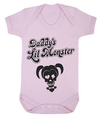 Harley Quinn Baby (Daddy's Lil Monster Harley Quinn cute baby grow various colours available)