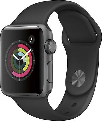 Apple Watch Series 2 38mm Space Gray Aluminum Case Black Sport Band (MP0D2LL/A)