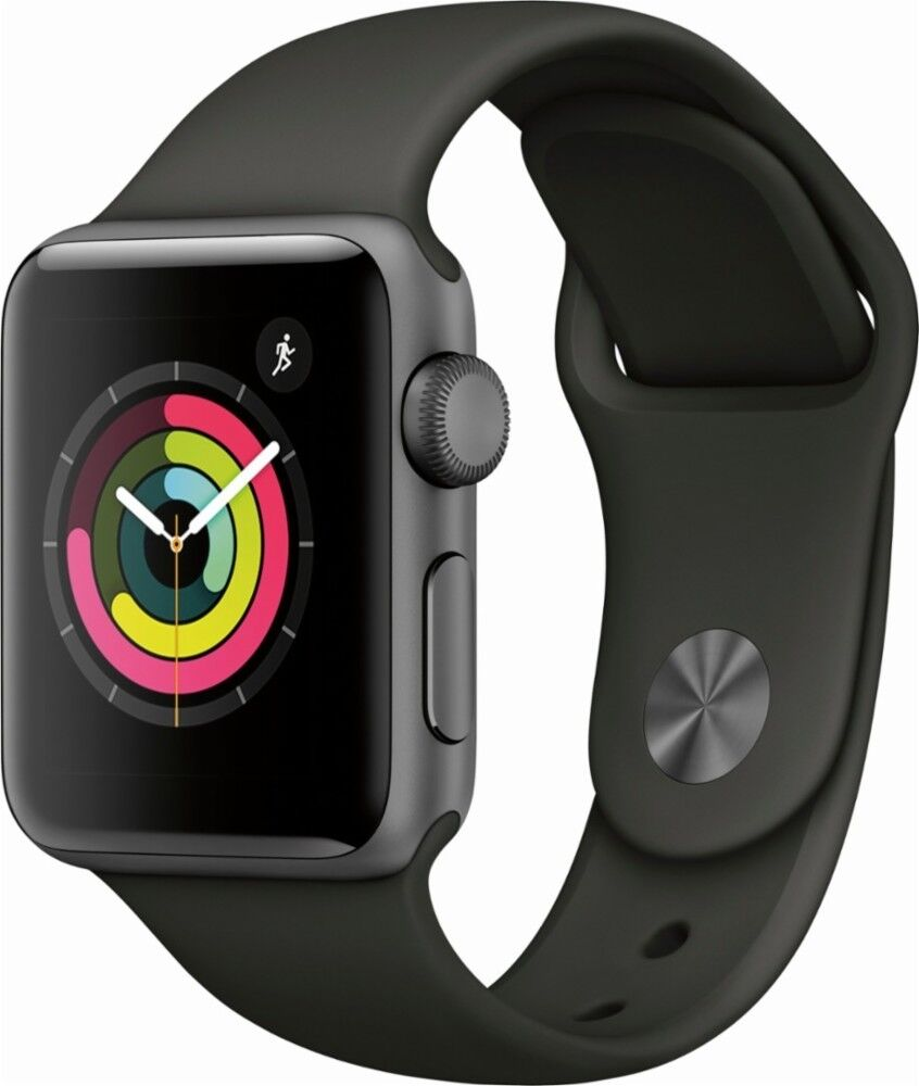 Apple Mr352lla Watch Series 3 - Gps - Space Gray Aluminum Case With Gray Sport Band - 38mm