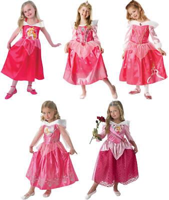 Disney Dornröschen Kostüme (Disney Sleeping Beauty Dornröschen Prinzessin Kinder Karneval Kostüm 104-128)