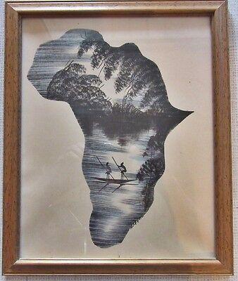 Afrikanische Original Tuschezeichnung,aus Sammlung  * Kenia 1970. * 4