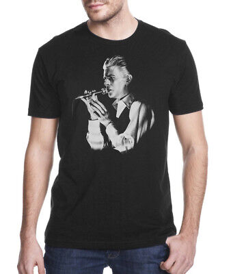 T-SHIRT David Bowie Black Elegant Portrait