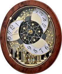 Rhythm ClocksWoodgrain Stars Magic Motion Clock (4MH843WS23)