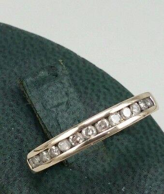 One third carat eternity Diamond ring in a 9ct gold, 13 white diamonds 0.33 ct