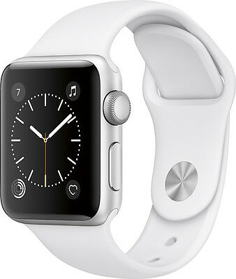 Open-Box Excellent: Apple - Apple Watch Series 2 38mm Silver Aluminum Case Wh...