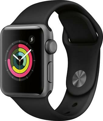 Open-Box Excellent: Apple - Apple Watch Series 3 (GPS), 38mm Space Gray Alumi...