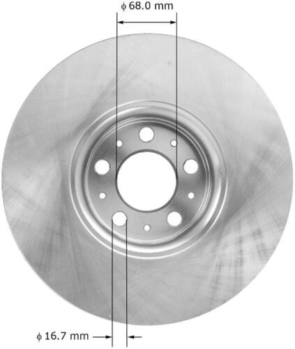 See Desc OE Replacement Rotors Ceramic Pads F 2006 2007 2008 Volvo XC90