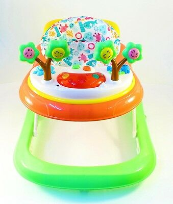 Deluxe Baby Walker Musical Activity Toy Wheels Colour Play Table Push NEW GREEN