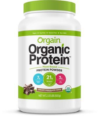 NEW Orgain Organic Protein Plant Based Powder Creamy Chocolate Fudge 2.03 Pound