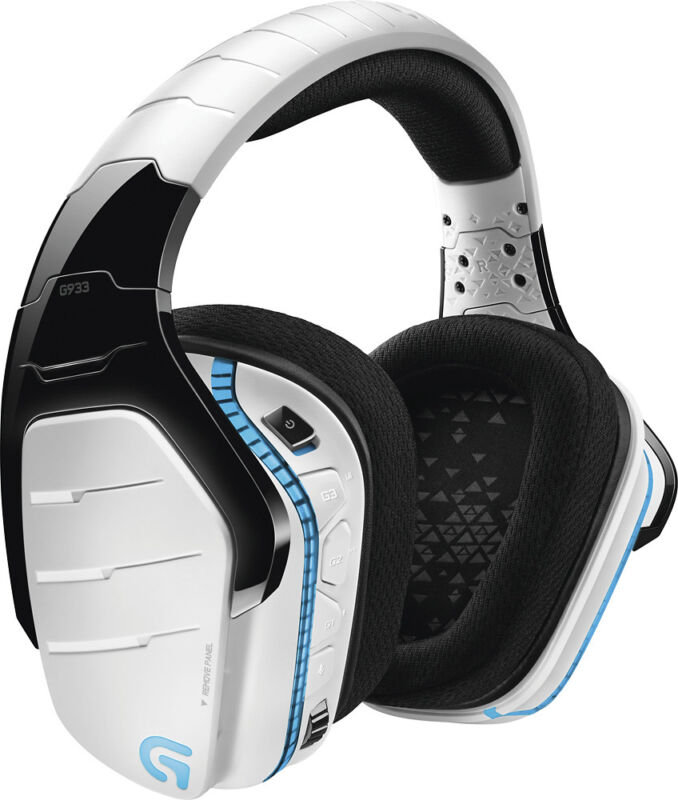 Logitech G933 Artemis Spectrum Snow Wireless 7.1 Gaming Headset for PC, PS4, Xbox One White 981-000620