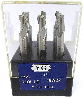 Yg-1 2fl 9pc De Hss End Mill Set 29wdr