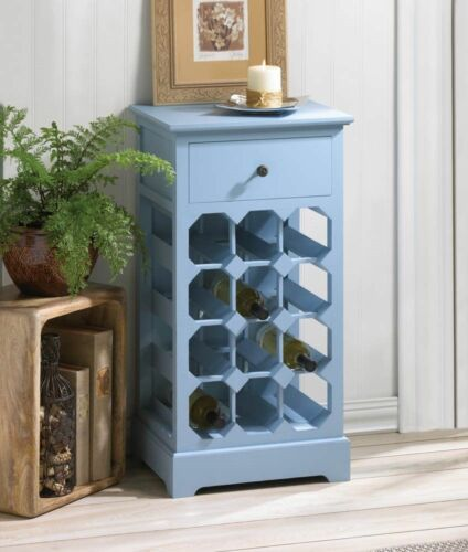SOMERSET BLUE WINE CABINET BOTTLE HOLDER RACK ...