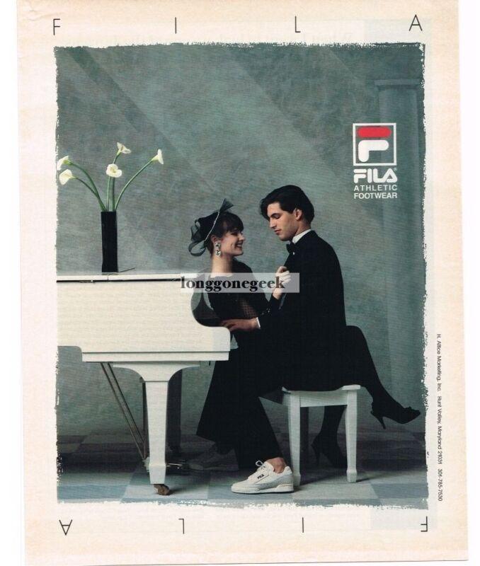 1988 Fila Athletic Footwear Sneakers Grand Piano Vintage Print Ad