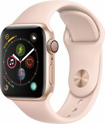 Apple Watch Series 5 44 mm Gold Aluminum Case with Pink Sand Sport Band (GPS)...