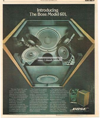 1977 Bose 601 Speakers Hi-Fi Vtg Print Ad inside view