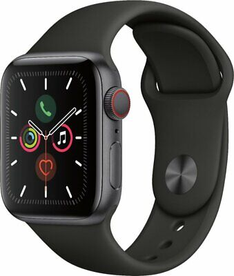 NEW Apple Watch Series 5 40mm Space Gray Aluminum Case (GPS + Cellular) UNLOCKED