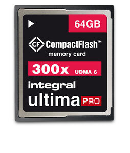 Integral 64GB 300x High Speed UDMA 6 Ultima Pro Compact Flash Card.
