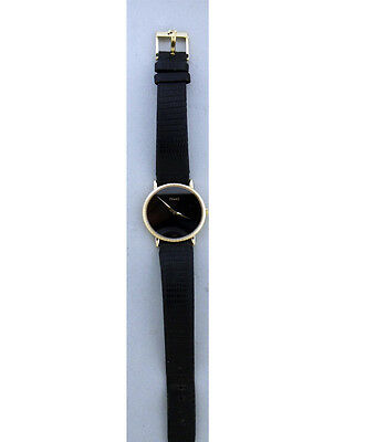 Piaget Ladies Watch 18K with Black Dial. Vintage Original 1980's