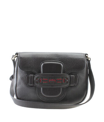 Gucci 296854 Dressage Brown Leather Crossbody Bag