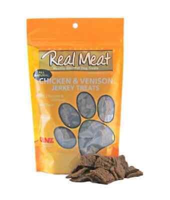 Canz Real Meat JERKY Healthy Cat Dog Reward Treats CHICKEN VENISON 4 oz Real Meat Jerky Cat Treats