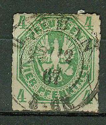 Preußen Briefmarken 1861 4 Pfennige Michel Nr. 14 Doppelkreisstempel