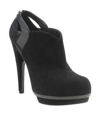 Fendi Black Suede Ankle Boots, Size 39