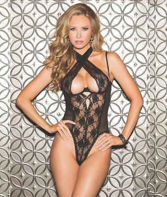 Shirley Of Hollywood Crossneck Open Back Teddy Lingerie -...