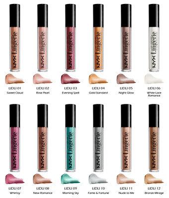 Tinte Cosmetics (1 NYX Lid Lingerie Eye Tint - Pearl Finish