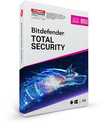 Bitdefender Total Security Multi Device 2019 - 5 Geräte & PC | 1 Jahr + VPN