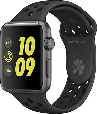 Apple Watch Series 2 Nike+ 42mm Room Gray Aluminum Case Dark Sport Band Nike +