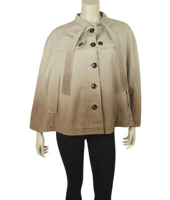 Burberry Cape Brown 100% Cotton Casual Jacket  ()