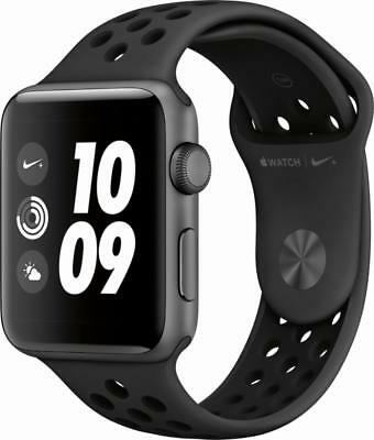 Apple Watch Gen 3 Series 3 Nike  42Mm Space Gray Aluminum   Anthracite Sport