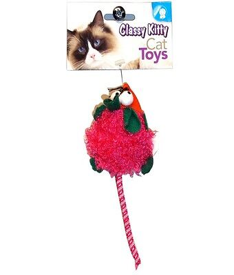NORTH AMERICAN PET CLASSY KITTY CAT BIG EYED MICE TOY ASST COLOR FREE SHIP USA