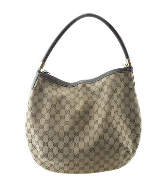Gucci 161718 Brown GG Canvas Hobo