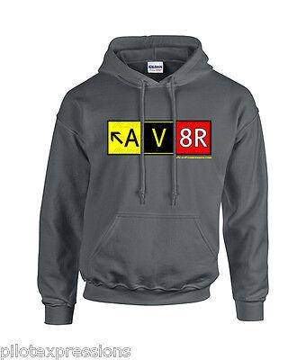 Aviator apparel. AV8R Taxiway Sign Hoodie Sweatshirt! Aviation Gifts for (Aviator Apparel)