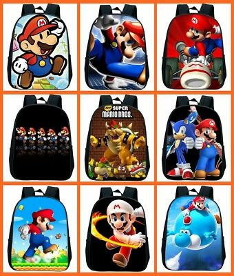 Game Super Mario 3D Print Backpack For Children Boys Girls Bag Best Gift