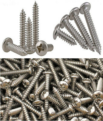 M22.22.634 Self-tapping Wood Screws Phillips Pan Head Round Stainless Steel