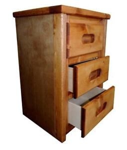 FREE delivery in Vancouver! Pine 3 Drawer Nightstand in Amber Wash!
