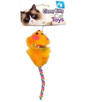 NORTH AMERICAN PET CLASSY KITTY MOUSE WITH BALL CAT TOY FREE SHIP TO THE USA