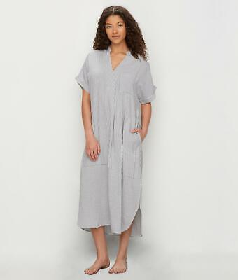 Donna Karan Seersucker Woven Maxi Sleepshirt - Women's