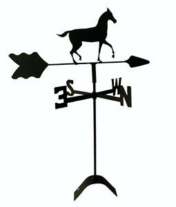 horse  weathervane black wrought iron look roof mount made in usaTLS1026RM