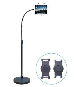 NEW AIDATA Universal Tablet Gooseneck Floor Stand, Height Adjustable, 360 Condition: New