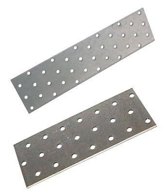 10 Stck Lochbleche 40 x 120 mm  feuerverzinkt  2 mm stark  Lochplatten Verbinder