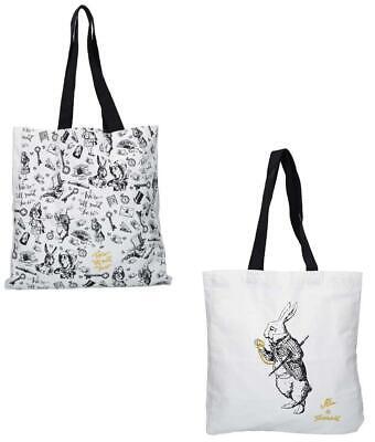 Alice in Wonderland Design 100% Cotton Shopping Tote Bag