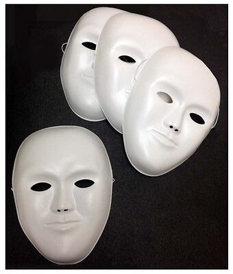 4 Plastic Masks With Elastic Bands For Decorating Yourself - Great for - Elastic Bands For Masks