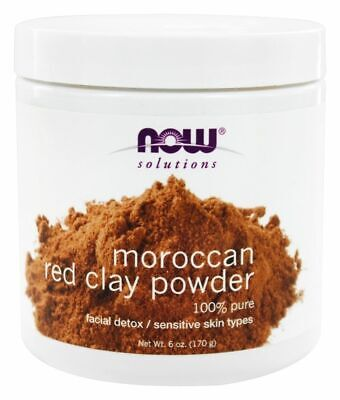 Foods Red Clay Powder - Now Foods - Solutions, Moroccan Red Clay Powder, 6 oz (170 g)